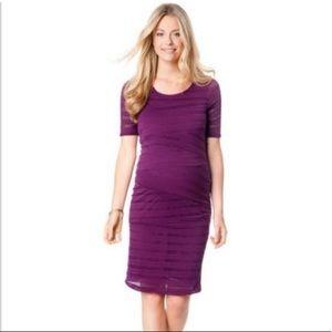 Motherhood Maternity Purple Dress